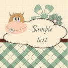 Cute,Label,Greeting,Computer Graphic,Ornate,Ilustration,Event,Domestic Room,Invitation,Fun,Backgrounds,Animal,Gift,Decoration,Apartment,Cow,Nature,Creativity,Shape,Pattern,Vintage Label