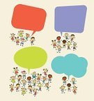 Child,Discussion,Cartoon,Thinking,Speech Bubble,Bubble,Little Boys,Sketch,Ilustration,Doodle,Speech,Group Of People,Smiling,Vector,Elementary Age,Ideas,People,Positive Information,Human Face,hand drawing,Image,Communication,Small,Teamwork