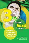 Brazil,Soccer,Championship,Fan,Flyer,2014,template,Brazilian,Spectator,Poster,Sport,Backgrounds,Competition,Brazilian Culture,Support,Party - Social Event,Modern,Design,Male,Cheering,Sports Team,Flag,Green Color,Mouth Open,Invitation,Celebration,Photographic Effects,Yellow,Shouting,Abstract,Men,Recreational Pursuit,sports and fitness,Competitive Sport,Team Sport,Vector,Excitement