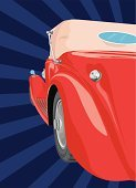 Car,Collector's Car,Hot Rod,Backgrounds,Retro Revival,Old,Old-fashioned,Wheel,Concepts And Ideas,Transportation,Grunge,Ilustration,Antique,Obsolete,Red