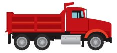 Dump Truck,Truck,Garbage Dump,Vector,Red,Trucking,Construction Industry,Loading,Carrying,Road,Transportation,Illustrations And Vector Art