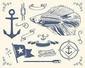 Nautical Vessel,Frame,Anchor,Retro Revival,Old-fashioned,Tied Knot,Rope,Summer,Drawing - Activity,Prepared Fish,Caribbean,Yachting,Caribbean Sea,Fish,Navy,Navy Blue,Oar,Tattoo,Sail,Decoration,Flag,Set,Ribbon,Sailing,Collection,Series,Turquoise,Animal,Ilustration,Food,Animals Hunting,Hunting,Old,Vector,Deep,Package,Drawing - Art Product,Coastline,Bay Of Water,Pencil Drawing,Blue,Blowing,Sea,Wildlife