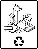 Recycling,Newspaper,Recycling Symbol,Carton,Material,Isometric,Box - Container,Garbage,Package,Pollution,Environment,reduce,Three Dimensional,Removing,reuse,Environmental Conservation,Protection,Order,Paper