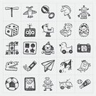 Leisure Games,Doodle,Sketch,Toy Block,Sport,Teddy Bear,Ball,Playful,Playing,Car,Baby,Black Color,Collection,Fun,Robot,Bear,Ilustration,Train,Silhouette,Set,Toy,Hand Draw,Play,Child,Joystick,Doll,Horse,Vector,Isolated,Symbol