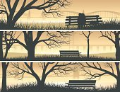 Tree,Silhouette,Urban Scene,Forest,Landscaped,Bench,Woodland,River,Bridge - Man Made Structure,Set,Placard,Ilustration,Looking At View,Park - Man Made Space,Grass,Plant,Stem,Vector,Backdrop,Sunset,Copse,Beach,Scenics,Season,Botany,Orange Color,Nature,Horizontal,Branch,Backgrounds,Canal,Deciduous Tree,Tree Trunk,Bush,Bay Of Water,Sea,Banner