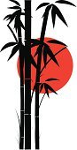 Bamboo,Bamboo,Japan,Sun,Vector,Black Color,Red,White,Backgrounds,Design,Silhouette,Nature,Scenics,Ilustration,Leaf,Bright,Nature Backgrounds,Nature,Simplicity