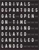 Commercial Airplane,Retro Revival,Arrival Departure Board,1940-1980 Retro-Styled Imagery,Delayed Sign,Boarding,Blackboard,Old-fashioned,Leaving,List,Ilustration,Cancelled,Vector,Message,Information Medium,Retail Display,Sign,Time,Number,Equipment,landed,Flight Board,Panel,Alphabet,template,Gate Open,Data,Chart,Station,Symbol,Typescript,Panel,Scoreboard,Machine Part,Tossing,Arrival,Collection,Black Color