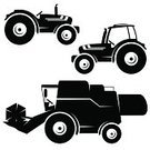 Combine Harvester,Tractor,Farm,Silhouette,Agriculture,Symbol,Field,Vector,Harvesting,Wheat,Farmer,Season,agronomy,Design,Land,Growth,Satisfaction,Power,Shape,Part Of,Transportation,Nature,Ground,Work Tool,Drawing - Art Product,Decor,Creativity,Wreath,Summer,Pick-up Truck,Ilustration,Agricultural Machinery,Cabin,Machinery