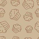 Cupcake,Outline,Swirl,Icing,Beige,Ilustration,Vector,hand drawn,Sweet Food,Party - Social Event,Color Image,Sketch,Dessert,Birthday,Cake,Food,sweet treat,Drawing - Art Product,Brown,Snack,Backgrounds,Incomplete,Muffin