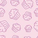 Incomplete,Backgrounds,Snack,Dessert,Pink Color,Drawing - Art Product,hand drawn,Sweet Food,Party - Social Event,Birthday,Muffin,Color Image,Sketch,Vector,Cake,Food,Ilustration,Swirl,Outline,Cupcake,Icing,sweet treat