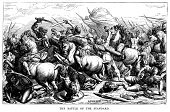 Engraving,Battle,Old-fashioned,Horizontal,Photography,Conflict,Black And White,Engraved Image,Antique,Battle,No People