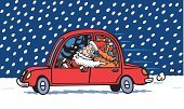Eye,Holiday,Heat - Temperature,Speed,Friendship,Humor,Joy,Sign,Carefree,Gift,Box - Container,Togetherness,Hat,Road,Vacations,Travel Destinations,Human Body Part,Human Eye,Beard,Flying,Driving,Smiling,Father,Family,Car,Christmas,Red,Reindeer,Dog,Tree,Winter,Night,Snow,Backgrounds,Fun,Christmas Tree,Santa Claus,Adult,Senior Adult,Fictional Character,Cute,Sack,Christmas Present,Delivering,Santa Hat,Illustration,Making A Face,Men,Senior Men,Vector,Active Seniors,Characters,Road Trip,Holiday - Event,Background