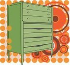 Dresser,Pattern,Furniture,2010,440,Circle,Cut Out,Single Object,No People,Drawer,Ilustration,Abstract,January