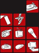 Funky,Entertainment,Religious Icon,Art,Microphone,Television Set,Computer,Computer Mouse,Graffiti,Multimedia,Home Video Camera,Radio,PC,Nightlife,Can,Computer Icon,Crayon,Technology,Eyesight,Audio Equipment,Turning,Spraying,Cool,Sound,Design,Design Element,Table,Illustrations And Vector Art,Stereo