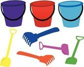 Beach,Bucket,Toy,Equipment,Kitchen Utensil,Container,Scoop,Rake,Work Tool,Colors,Vector,Scooped Neck,Ilustration,Vehicle Scoop,Molding A Shape,Serving Scoop,Sand