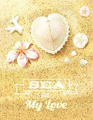 Sand Dune,Beach,Backgrounds,Abstract,Nature,Vacations,Affectionate,Sand,Tourist Resort,Pink Color,Summer,Mollusk,Mother of Pearl,Sea,Eps10,Vector,Ilustration,Exploration,Frangipani,Shape