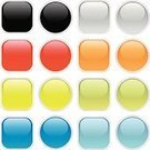 Interface Icons,Push Button,Shiny,Square Shape,Circle,Square,Blank,Black Color,Curve,Blue,Frame,Vector,Metallic,Green Color,Red,Plastic,Orange Color,Color Image,Gray,Empty,Set,Lime Green,Variation,No People,Isolated On White,Front View,Ilustration,Concepts And Ideas,Illustrations And Vector Art,Vector Icons,Communication,Olive Green