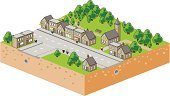 Isometric,City Map,Street,Main Street,House,Tree,Store,Church,Shopping Mall,Home Interior,Sidewalk,Bush,Shopping,Roof,City Plan