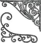 Corner,Angle,Ornate,Design Element,Drawing - Art Product,Frame,Scroll Shape,Decoration,Architectural Feature,Isolated On White,Old-fashioned,Sketch,Swirl,Art,Victorian Style