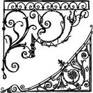 Corner,Drawing - Art Product,Corner,Swirl,Architectural Feature,Design Element,Frame,Decoration,Isolated On White,Scroll Shape,Art Nouveau,Sketch,Floral Pattern,Ornate,Art,Victorian Style,Old-fashioned