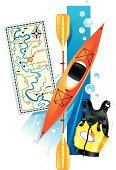 Kayak,Kayaking,Rapid,Outdoors,Lifestyles,Equipment,450,Sport,Water,Cut Out,Outdoor Pursuit,No People,Group of Objects,Ilustration,Adventure