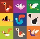 Flying,Symbol,Bird,Sign,Design,Set,Colors,Style,Color Image,Vector,Insignia,Collection,Computer Graphic,Variation