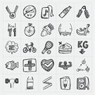 Doodle,Muscular Build,Healthcare And Medicine,Healthy Lifestyle,Sketch,Strength,Weight Scale,Weights,Food And Drink,Exercising,Jogging,Set,Dieting,Running,Human Muscle,Relaxation Exercise,Track Event,Food,Symbol,Dumbbell,Sport,Heart Shape,Drawing - Activity,Sports Training,Health Club,Isolated,Equipment,Black Color,Pencil Drawing,Training Class,Heart - Entertainment Group,Vector,Human Heart,School Gymnasium,Drinking Water,Gym,Aerobics,Healthy Eating,Apple - Fruit,Ilustration,Hand Draw,Drawing - Art Product