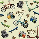 Pattern,Bicycle,White,Concepts,Skill,Old-fashioned,Computer Icon,Ideas,Equipment,Classic,Symbol,Professional Sport,Camera - Photographic Equipment,Cultures,Clock Hand,Technology,Shutter,Design,Hipster,Retro Revival,Vector,Handbook,Ilustration,Hobbies,Painted Image,Camera Film