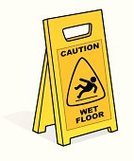 Flooring,Caution Wet Floor,Wet,Sign,Advice,Safety,Plastic,Yellow,Risk,Symbol,Danger,Manuel Worker,Reflection,People,Physical Injury,Slippery,Liquid,Warning Sign,Irony,Respect,Warning Symbol,Working,Failure