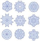 Snowflake,spirograph,Symmetry,Single Flower,Vector,Abstract,Complexity,Snow,Blurred Motion,Winter,Art,Pencil Drawing,Ilustration,Holiday,Clipping Path,Blue,flakes,Winter,Nature,Illustrations And Vector Art,Clip Art,Design Element