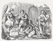 Greek Culture,Greece,Hephaistion,Ancient Greece,Classical Greek,Alexander the Great,Old-fashioned,Persian Culture,Horizontal,Darius,The Past,Photography,Oriental Style Woodblock Art,anecdote,Ancient Civilization,Woodcut,Engraved Image,Social History,No People,Peter Alexander