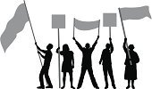Flag,Holding,Men,People,One Person,Vector,Waving,Silhouette,Banner,Unrecognizable Person,Women,Ilustration,Isolated On White,Outline,flag waving,Sign,Black And White,White Background,Placard,Cheerful,Tracing,Isolated,Black Color,Happiness,Protestor,Cheering,Standing,Fan