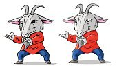 Goat,Animal,Monk - Religious Occupation,Chinese New Year,2015,Year Of The Goat,Magic,Chinese Culture,Exercising,Martial Arts,Ethereal,Physical Position,East Asian Culture,Cute,Cartoon,Chinese Ethnicity
