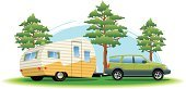 Motor Home,Car,Pulling,Vector,Camping,Cut Out,Vacations,Ilustration,Motor Vehicle,Outdoors,Outdoor Pursuit,No People,Sports Utility Vehicle,Camp Grounds,July,2011,Land Vehicle,Urban Skyline,Day