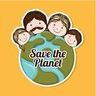 Earth Day,World Map,Earth,Creativity,People,Little Boys,Presentation,Teenage Girls,Ilustration,Computer Graphic,Father,Design,Ribbon,Planet - Space,Protection,Daughter,Vector,Circle,Mother,Family,Space,Design Element,Son,Nature,Concepts,Ideas,Environment,Science,Rescue