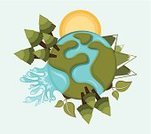 Earth Day,Water,Tree,Map,Planet - Space,Earth,Circle,Forest,Environment,Nature,Design Element,Ideas,Sun,Landscape,Woodland,Ilustration,Vector,Space,Design,Presentation,Computer Graphic,Creativity,World Map,Concepts