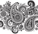 Paisley,India,Old-fashioned,Flower,Pattern,Black Color,Persian Culture,Black And White,Shape,Spray,Decoration,Design,Twisted,Welsh Pears,Design Element,Textile,Persian Pickles,Vegetable,Cultures,Seamless,associated,Iranian Culture,Outline,Posing,Kidney-shaped,Hinduism,White,Symbol,Straight,East Asian Culture,Backgrounds,Contrasts