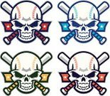 Baseball - Sport,Baseballs,Human Skull,Softball - Ball,Softball,Competition,Team,Teamwork,Sports Team,Sports Bat,Award,Ilustration,Vector,White Background,Adult,Trophy,Design,Isolated,Early Teens,Competitive Sport,Image,Aggression,Sport,Child
