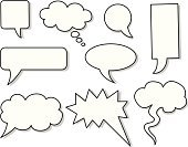 Speech Bubble,Discussion,Symbol,Set,Speech,Cartoon,Thought Bubble,Ilustration,Single Word,Collection,Vector