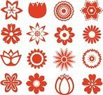Large Group of Objects,Ilustration,Abstract,Petal,Group of Objects,Vector,Isolated,Design Element,Single Flower,Computer Graphic,Simplicity,Symbol,Design,Set,Flower,Flower Head,Shape,Red,Nature,Variation