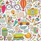 Flower,Car,Hot Air Balloon,Pattern,Floral Pattern,Backgrounds,Drawing - Art Product,Seamless,background pattern,Greeting Card,Decoration,Camera - Photographic Equipment,Wallpaper,Transportation,Love,Relaxation,Plan,Tropical Climate,Art,Bee,Tree,Summer,Tourism,Design,Symbol,seamless pattern,Greeting,Drawing - Activity,Heart Shape,Computer Graphic,Sea,Ship,Vector,Ilustration,Travel,Vacations,Animal,Loving,Doodle