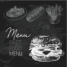 Blackboard,Hot Dog,Painted Image,Ilustration,Hamburger,Pasta,Black Color,French Fries,Sketch,Drawing - Activity,Drawing - Art Product,Menu,Pencil Drawing,Heart Shape,Chalk Texture,Typescript,Love,Barbecue Grill,Cooking,Monochrome,Tomato,Calligraphy,Sausage,Old-fashioned,Fast Food Restaurant,Refreshment,Vegetable,Spaghetti,Prepared Potato,Toast,Ornate,Birthday,Bread,Italian Cuisine,Set,Chicken,Restaurant,Meal,Unhealthy Eating,Computer Icon,Heat - Temperature,Crockery,Black And White,Main Course,Doodle,Sandwich,Collection,Cafe,Computer Graphic,Fast Food,Vector,Retro Revival,Barbecue,Cheese