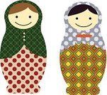 Russian Nesting Doll,Collection,Ornate,Souvenir,Ilustration,Babushka,Toy,Symbol,Women,Cute,Folk Music,Russia,Decoration,Doll,National Landmark,Cultures,Computer Graphic,Multi Colored,Pattern,Craft