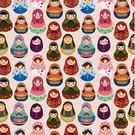 Women,Pattern,Russian Nesting Doll,Folk Music,Child,Cute,Playful,Craft,Innocence,Decoration,Cultures,Modern,Doodle,Backgrounds,Ornate,Multi Colored,Curly Hair,Doll,Toy,Vector,Babushka,Collection,Stacking,Ilustration,Souvenir