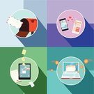 Digital Tablet,Telephone,Computer,Laptop,Mail,Mailbox,Smart Phone,Communication,Multimedia,Concepts,Information Medium,Vector,Symbol,Computer Monitor,Mobile Phone,Internet,Text Messaging,Social Issues,Business,Ilustration,Pattern,Love,Technology,Digitally Generated Image,Letter,Discussion,Mobility,Digital Display,Electrical Equipment,Reading,Heart Shape,Computer Icon,Design