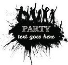 Party - Social Event,Backgrounds,Grunge,Spray,Silhouette,Eps10,EPS 10,Crowd,Emo,Splattered,Women,Vector,Men,Group Of People,Ilustration,Nightclub