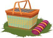 Picnic Basket,Picnic,Vector,Picnic Blanket,Field Trip,Grass,Vacations,Vector Design,Picnic Bag,Outdoors,Ilustration,Design Element,Picnic Cloth,Creative Design,Picnic Food,Icon Set,Symbol,Lawn