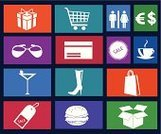 Symbol,Purse,Currency,Shopping,Vector,Gift,Coupon,Bag,Basket,Shopping Cart,Coffee - Drink,New