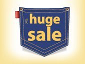 Large,Pants,Pocket,Sale,clearance,Fashion,Single Word,Shape,sell-out,Neat,Vector,Rope,Jeans,Label,Selling,Hanging,Badge,Blue,Sign,Labeling,Retail,Shopping Mall,Clothing,Outlet