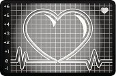 2011,Vector,February,Ilustration,Black And White,Toned Image,Pattern,heart monitor,Heart Health,Single Object,Cut Out,No People